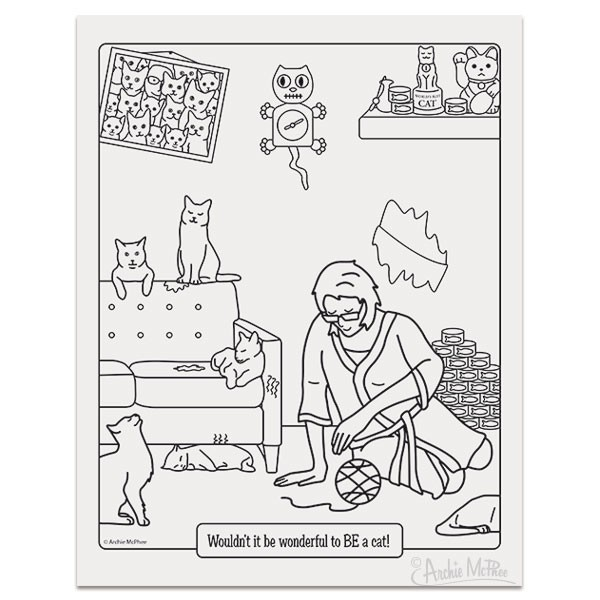 Crazy Cat Lady Colouring Book image