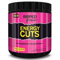 Ripped Femme Energy Cuts Pre-Workout - Fruit Punch (25 Serves)