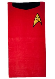 Star Trek Cotton Beach Towel - Scotty / Red