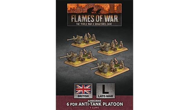 Flames of War: Airborne 6 pdr Anti-Tank Platoon (x4 Plastic)