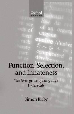 Function, Selection, and Innateness by Simon Kirby image