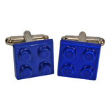 Blue Retro Brick Cufflinks