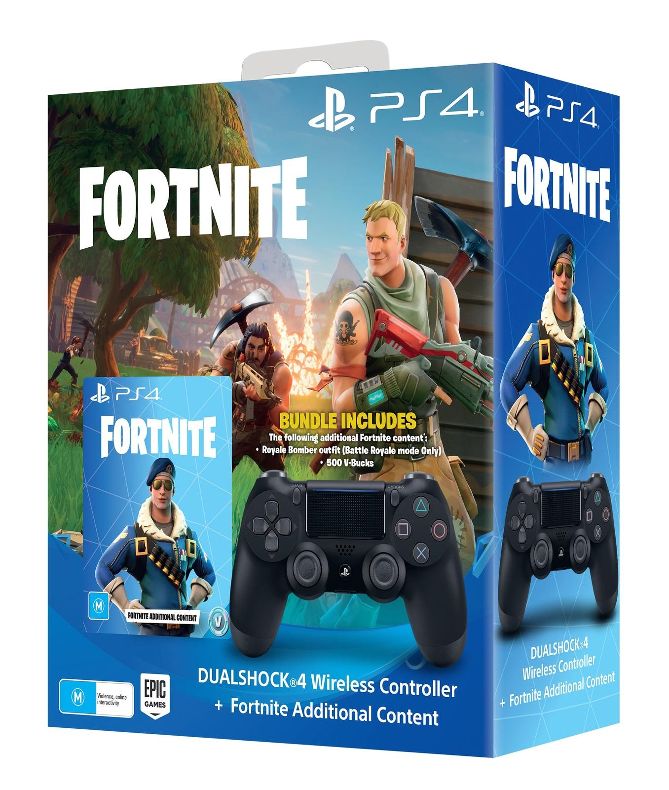 c83c227d15dd7 PlayStation 4 Dual Shock 4 v2 Wireless Controller - Fortnite Bundle for PS4  image