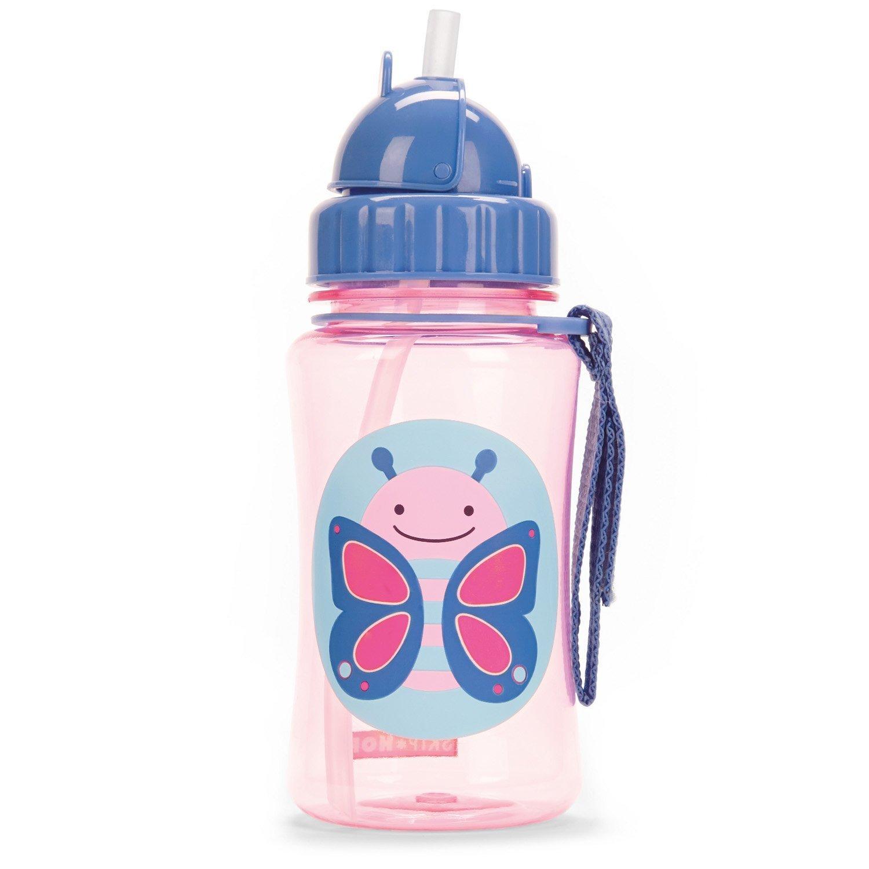 Skip Hop: Zoo Straw Bottle - Butterfly image