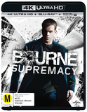 The Bourne Supremacy (4K UHD + Blu-ray + UV) DVD