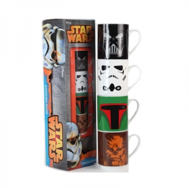 Star Wars: Stackable Mugs - Set of 4