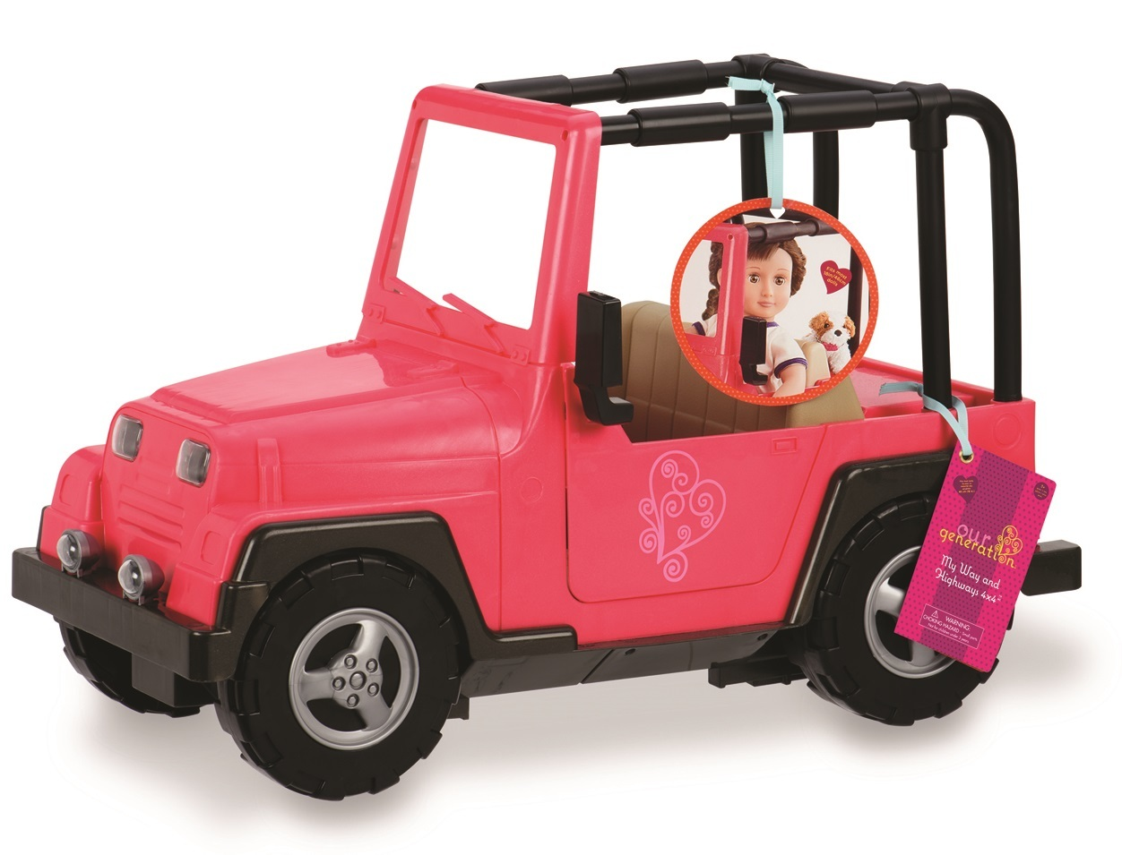 Our Generation: 4x4 Jeep - Pink/Black image