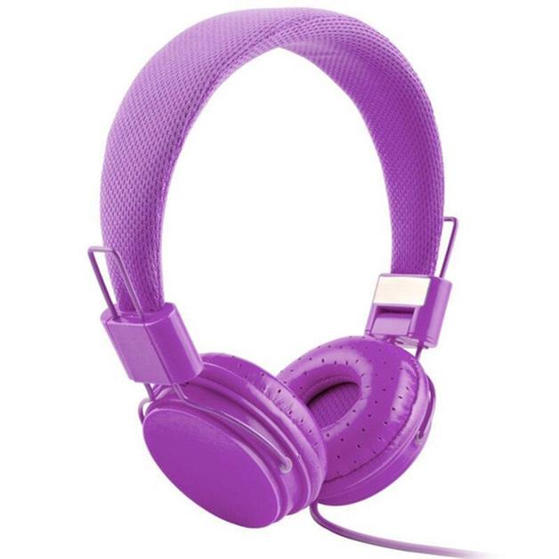 Music On-Ear Earphones with Microphone - Purple
