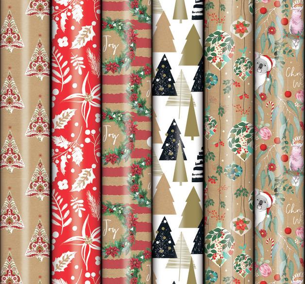 Patelena House: Christmas Roll Wrap - Kraft 5M (Assorted Designs)