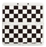 New Nintendo 3DS Cover Plates - No. 06 (Black White Check) for Nintendo 3DS