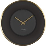 Karlsson Wall Clock - Illusion (Black/Gold)