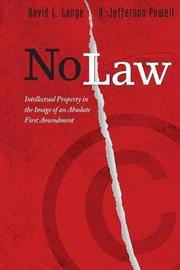 No Law by David L Lange