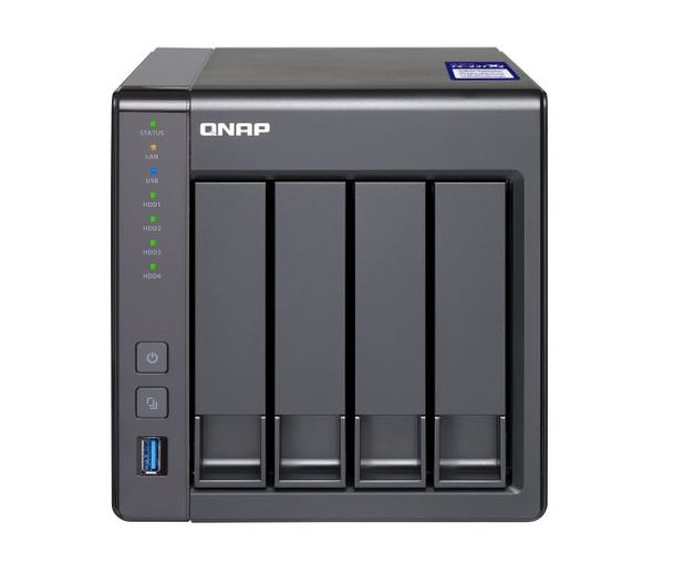 Qnap Ts-431X2-8G 4-Bay Nas (No Disk), Al314 Quad Core 1.7Ghz, 8Gb , Sata 6Gb/S, 1X 10Gbe Sfp+ Lan, 2X Gbe Lan