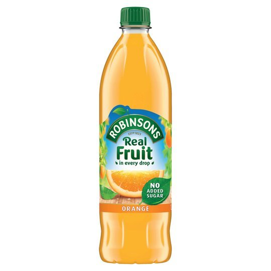 Robinsons Orange No Added Sugar 1L