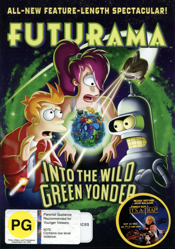 Futurama - Into The Wild Green Yonder on DVD