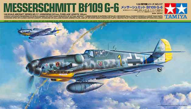Tamiya: 1/48 Messerschmitt Bf 109 G-6 - Model Kit