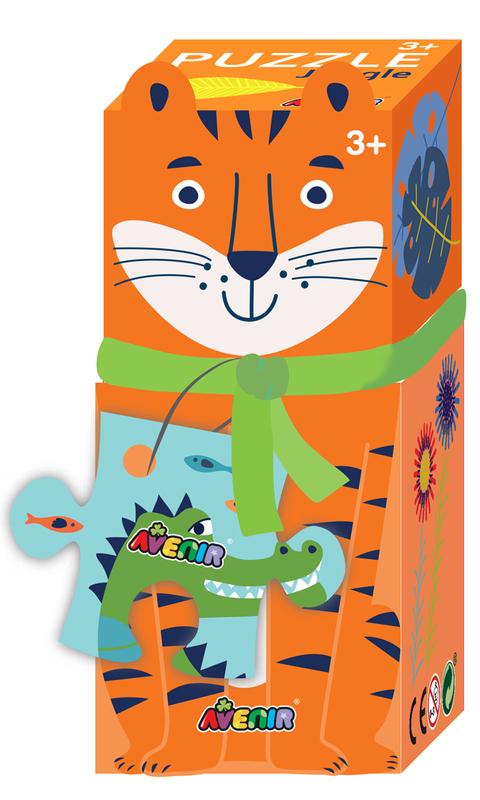 Avenir: 28-Piece Puzzle Gift Box - Jungle Tiger