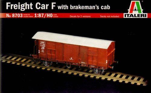 Italeri Freight Car F with Brakeman Cab 1:87 Model Kit