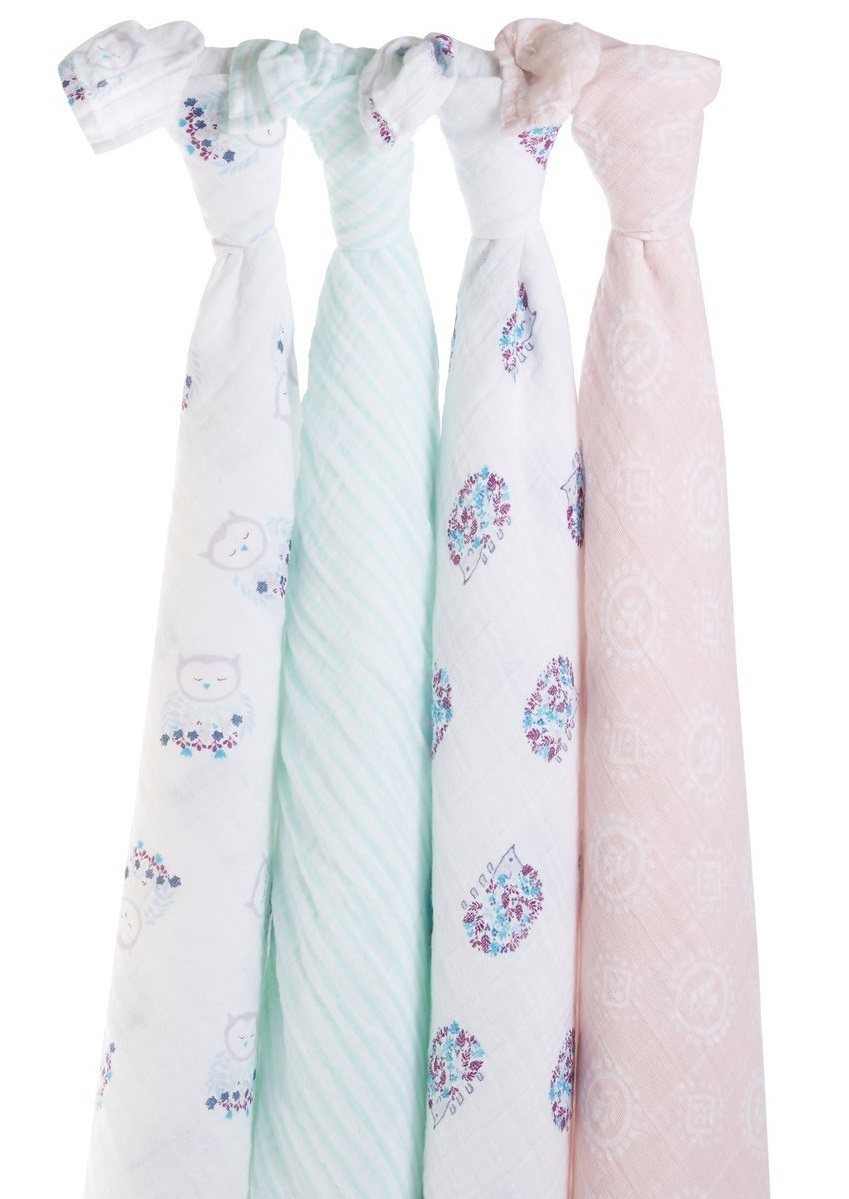 Aden + Anais: Classic Swaddle - Thistle (4 Pack) image