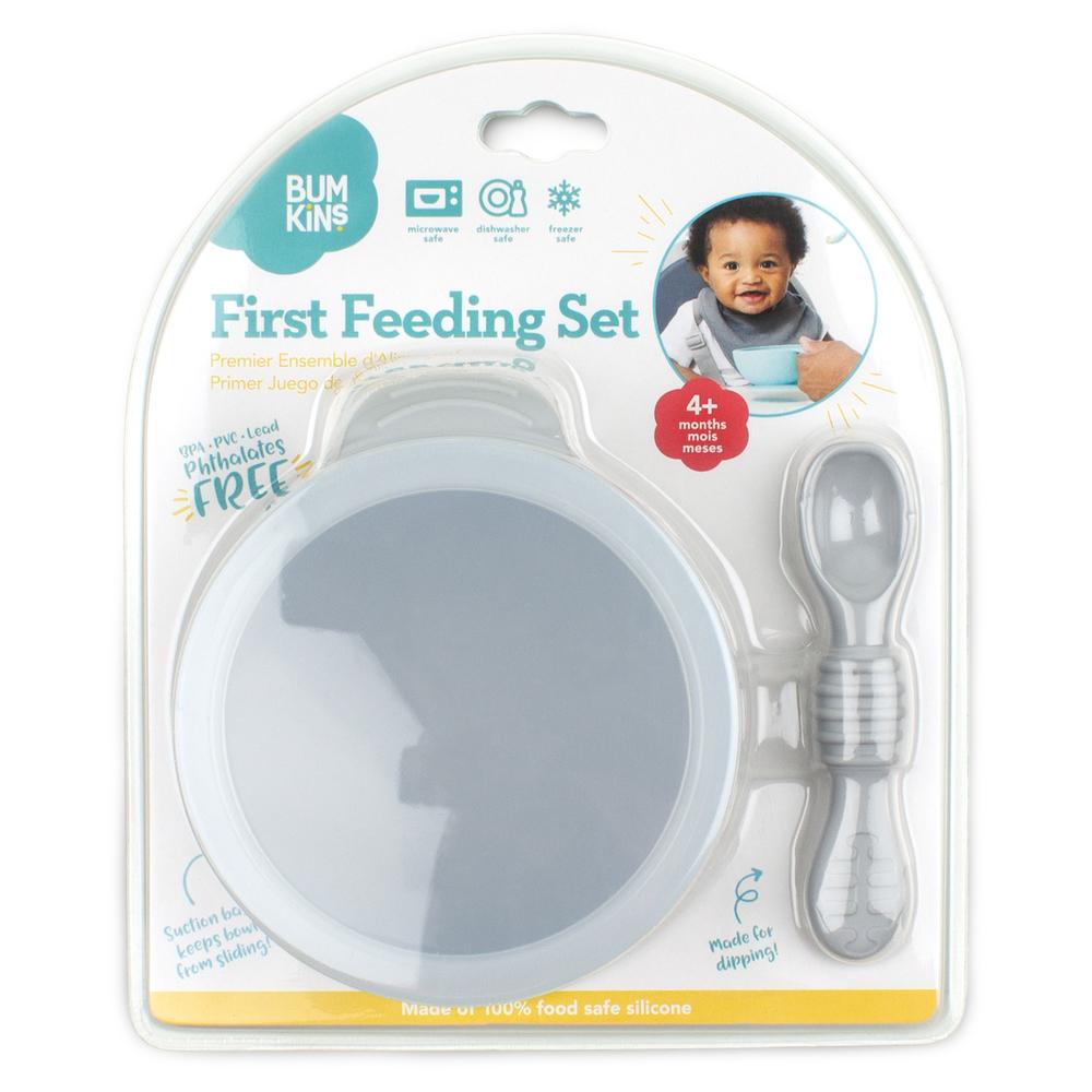 Bumkins: First Feeding Set - Grey image