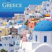 Greece 2019 Square Wall Calendar by Inc Browntrout Publishers