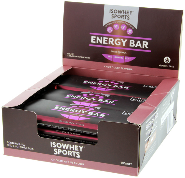 IsoWhey Sports Energy Bar - Chocolate (12x50g)