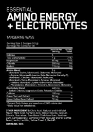 Optimum Nutrition: Amino Energy + Electrolytes - Tangerine Wave (30 Serves) image