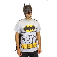 Batman Costume T-Shirt & Mask - Medium