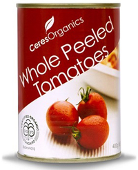 Ceres Organics Whole Peeled Tomatoes 400g