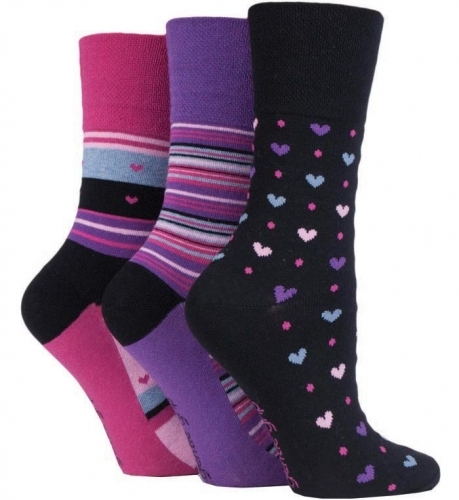 Ladies Gentle Grip N/Elastic Socks image