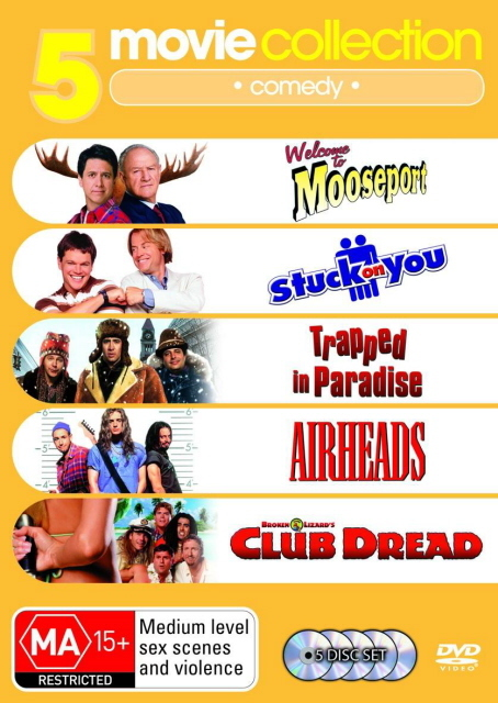 Welcome to Mooseport/Airheads/Trapped In Paradise/Stuck On You/Club Dread (5 Disc Set) on DVD