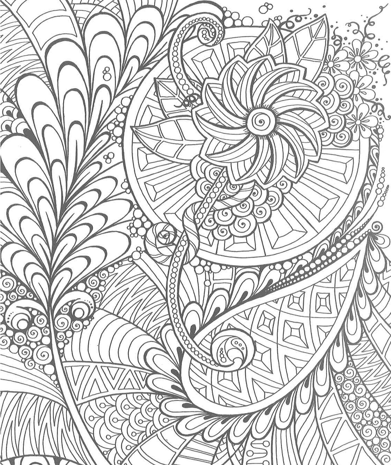 Zendoodle Coloring Creative Sensations Julia Snegireva