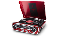 ION Mustang LP 4-in-1 Classic Car-Styled Music Center (Red)