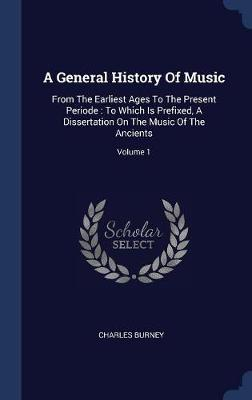 A General History of Music by Charles Burney image