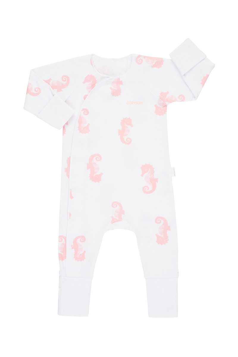 Bonds Newbies Coverall - Petite Seahorse (0-3 Months) image