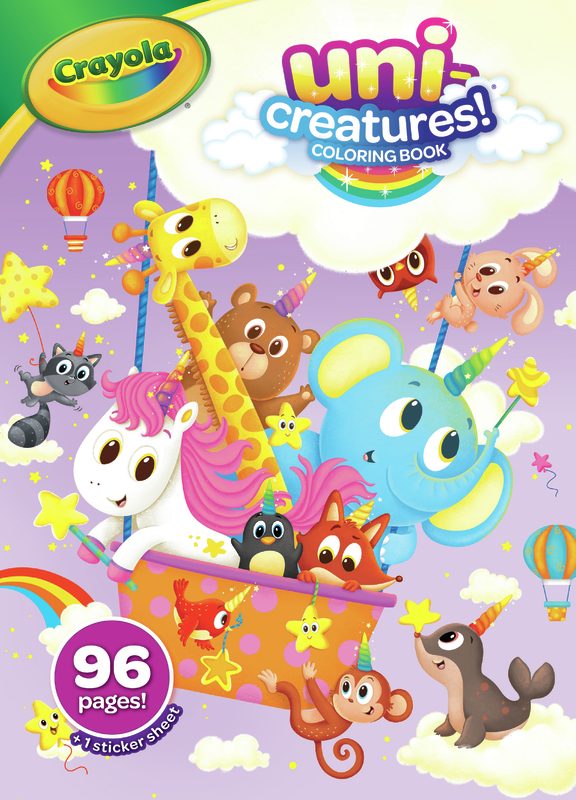 Crayola: Uni-Creatures - Coloring Book With Stickers