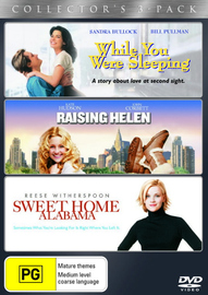 While You Were Sleeping / Raising Helen / Sweet Home Alabama (3 Disc Set) on DVD image