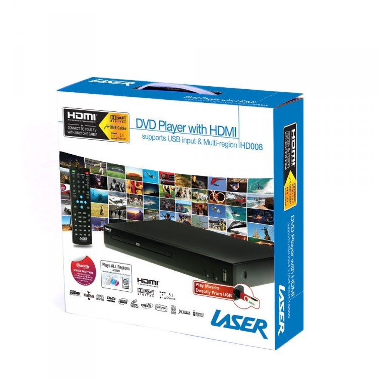 Laser DVD Player with HDMI Composite & USB image