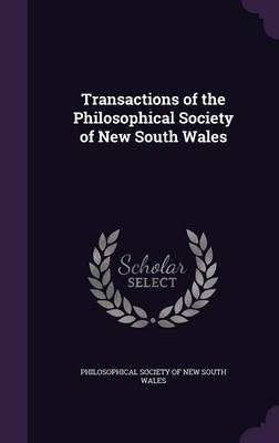 Transactions of the Philosophical Society of New South Wales image