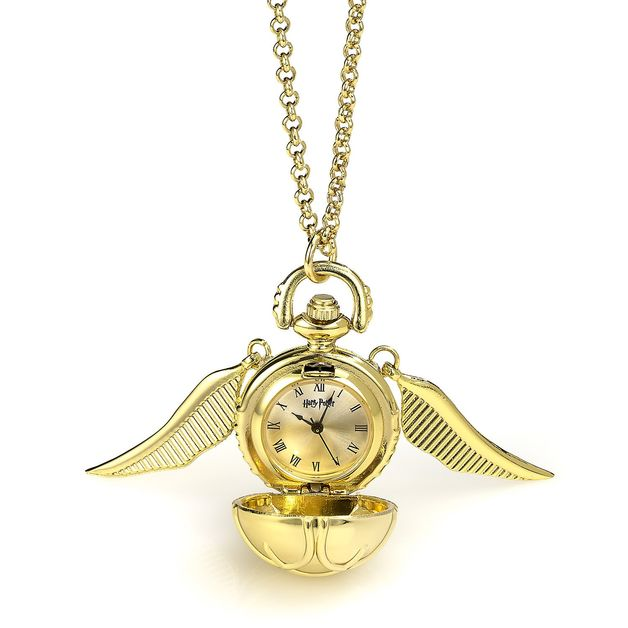 The Carat Shop: Harry Potter Golden Snitch Watch Necklace