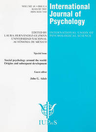 Social Psychology Around the World: Origins and Subsequent Development image