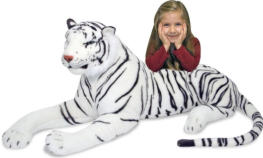 Melissa & Doug - White Tiger Giant Stuffed Animal Plush image