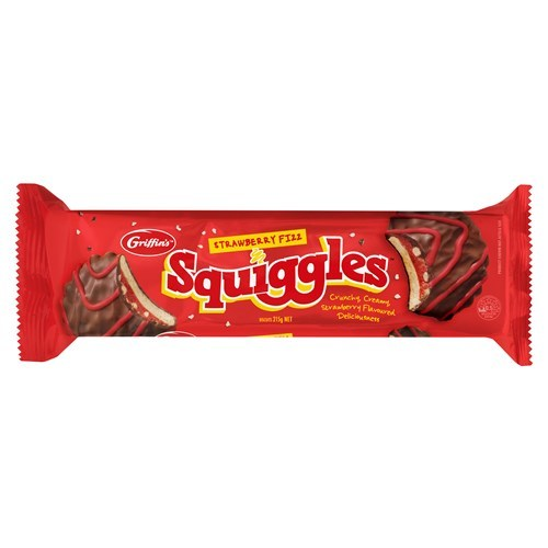 Griffins Squiggles Strawberry Fizz (215g)