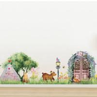 Fairy Magical Village Wall Decal
