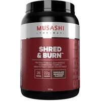 Musashi Shred & Burn Protein Powder - Chocolate Milkshake (900g)