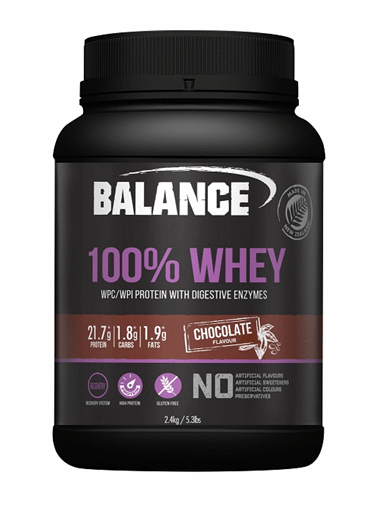 Balance 100% Whey Protein Powder - Chocolate (2.4g)