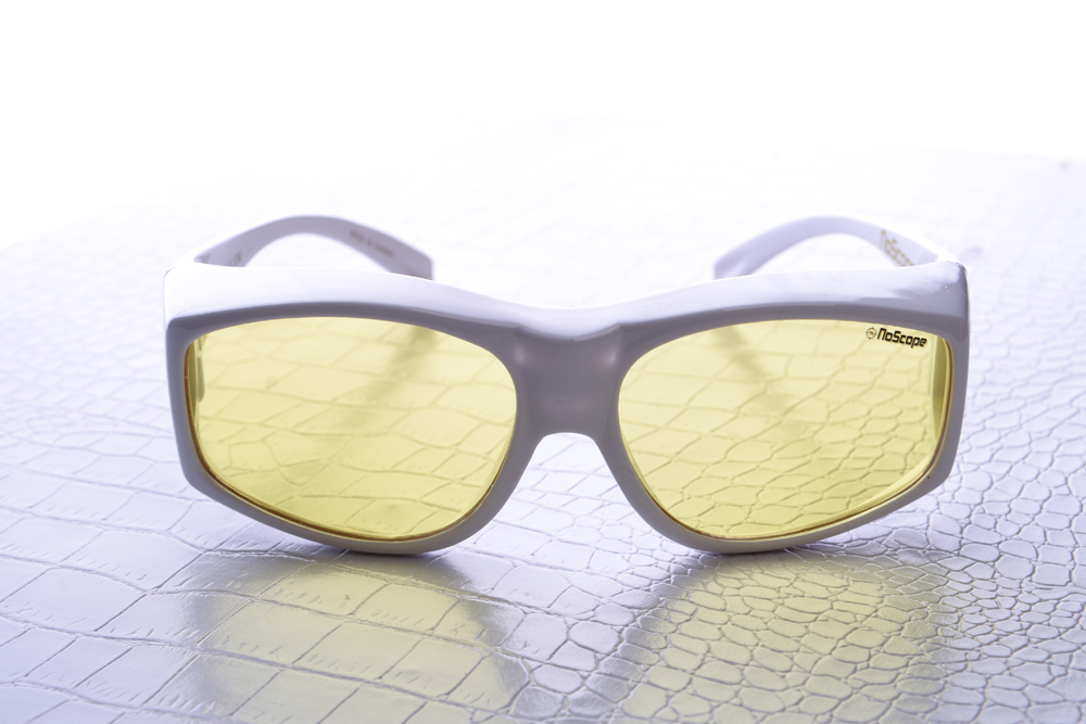 NoScope Golem Gaming Glasses (Rx Compatible) – Frost White for PC Games image