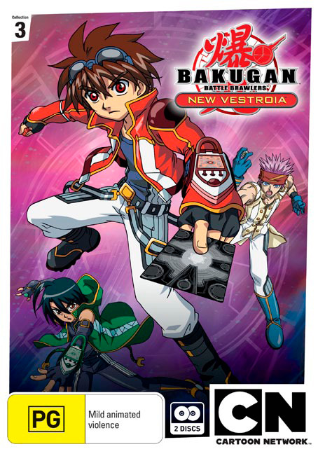Bakugan: New Vestroia Collection 3 (2 Disc Set) on DVD image