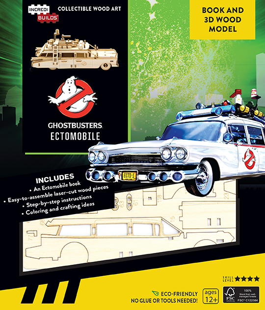 Incredibuilds: Ghostbusters Ectomobile 3D Wood Model and Book