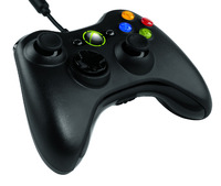 Official Microsoft Xbox 360 Wired Controller - Black for Xbox 360 image